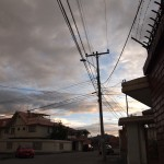 my street, just before sunset