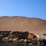 The Candelabra -- a mysterious hyroglyph in the sand on the way to the Isla Ballestas