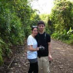 With my brother in the rainforest of Costa Rica