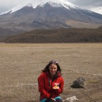 In front of of Cotopaxi Volcano in Ecuador