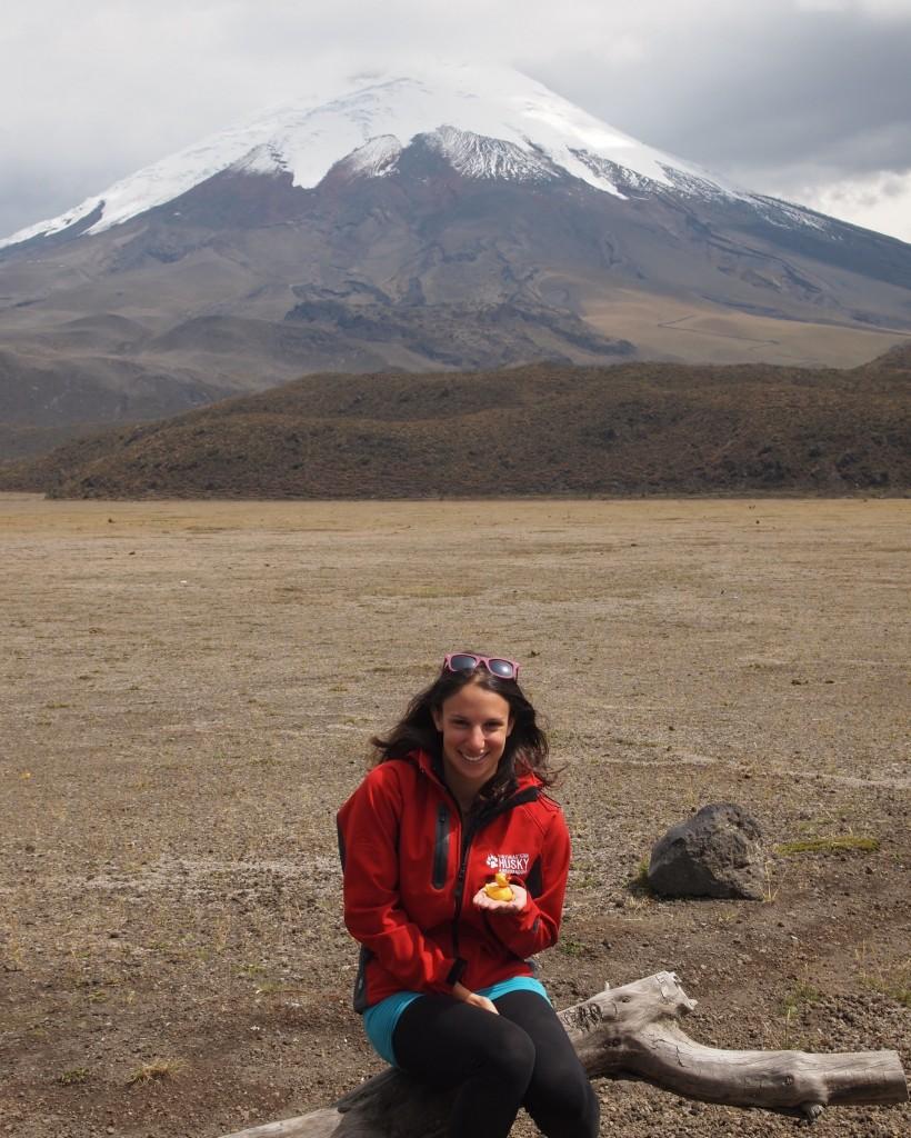 In front of of Cotopaxi Volcano in Ecuador