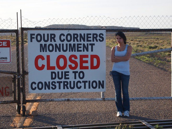 Failed attempt on a cross-country road trip to visit the Four Corners