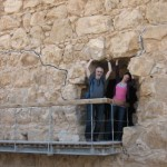 Goofing around on Masada with Dad