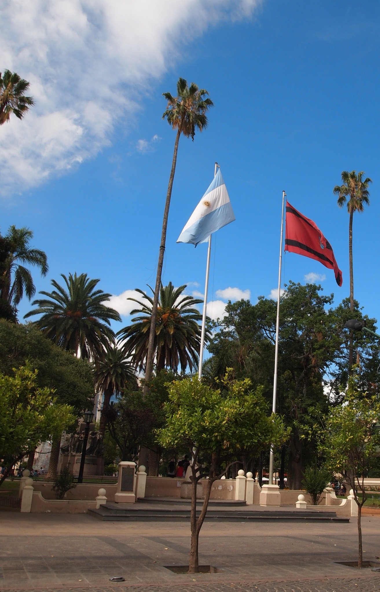 Argentine & Salta city flags