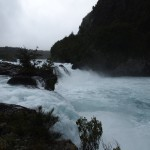 The single photo I have from Puerto Varas -- ice cold, sparkling clear blue water rapids about to turn into a series of waterfalls