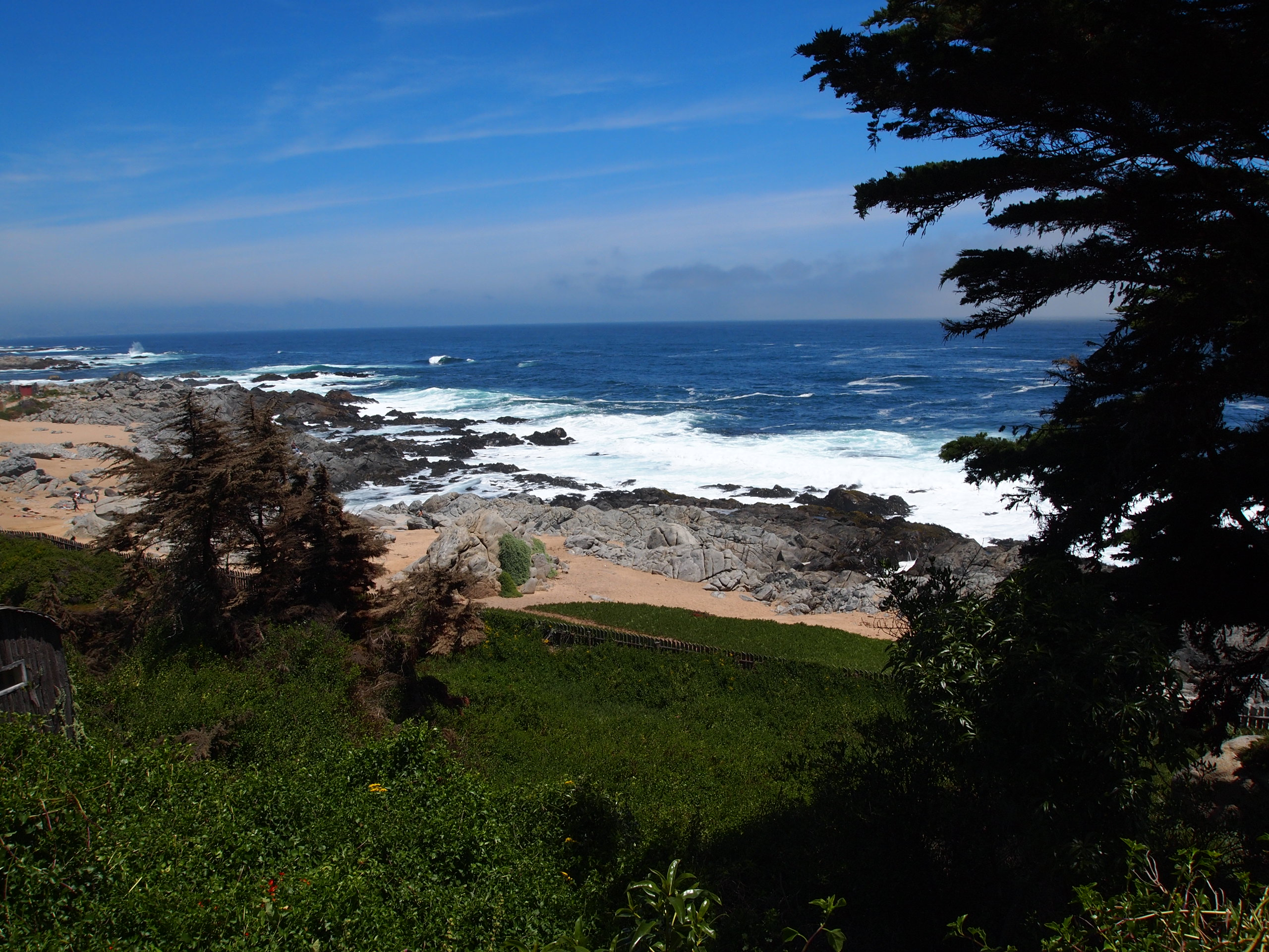 The view of the Pacific from Isla Negra, outside Pablo Neruda's house.